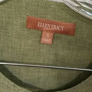 Ellen Tracy Jackets & Coats - Linen Jacket with Zipper Details